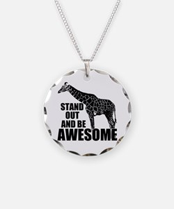 Awesome Giraffe Necklace Circle Charm