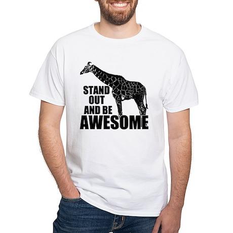 Awesome Giraffe White T-Shirt