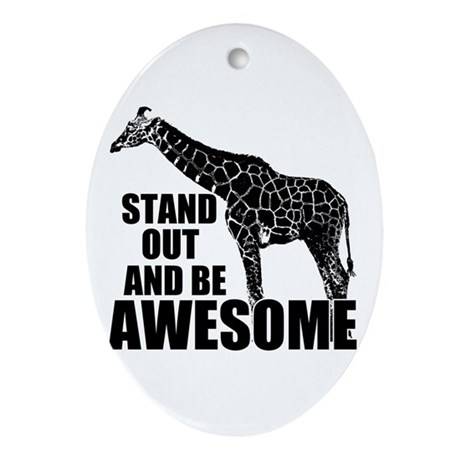 Awesome Giraffe Ornament (Oval)