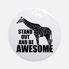 Awesome Giraffe Ornament (Round)