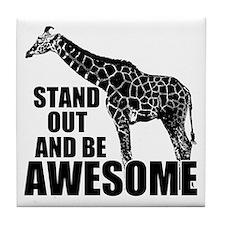 Awesome Giraffe Tile Coaster