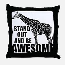 Awesome Giraffe Throw Pillow