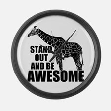 Awesome Giraffe Large Wall Clock
