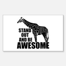 Awesome Giraffe Sticker (Rectangle)