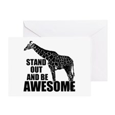 Awesome Giraffe Greeting Card