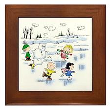 Snow Scene Framed Tile