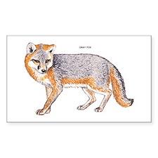 Gray Fox Animal Decal