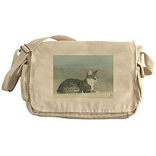 StephanieAM Cat On Wall Messenger Bag