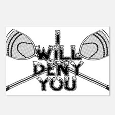 Lacrosse Goalie I Will Deny You Postcards (Package