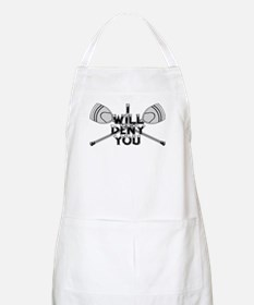 Lacrosse Goalie I Will Deny You Apron