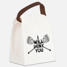 Lacrosse Goalie I Will Deny You Canvas Lunch Bag