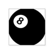 black billiard ball Rectangle Sticker