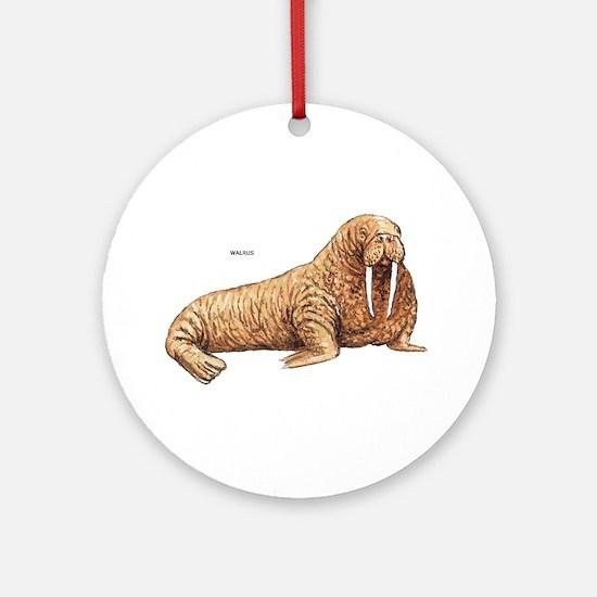 Walrus Animal Ornament (Round)