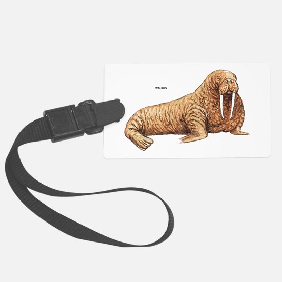 Walrus Animal Luggage Tag