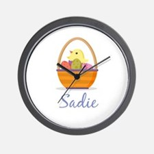 Easter Basket Sadie Wall Clock