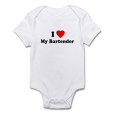 I Love [Heart] My Bartender Infant Bodysuit