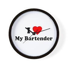 I Love [Heart] My Bartender Wall Clock