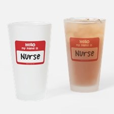 Nurse Name Tag Drinking Glass