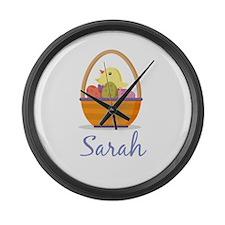 Easter Basket Sarah Large Wall Clock
