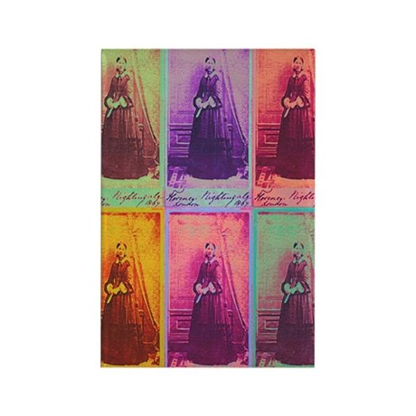 Florence Nightingale Colors Rectangle Magnet