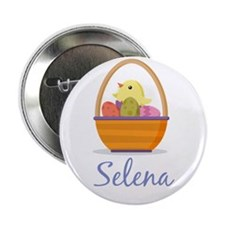"Easter Basket Selena 2.25"" Button"