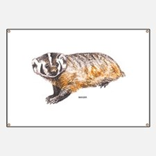 Badger Animal Banner