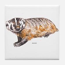 Badger Animal Tile Coaster