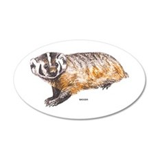 Badger Animal Wall Decal