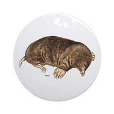 Mole Animal Ornament (Round)