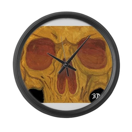 Skull Face Large Wall Clock By Madrobot666