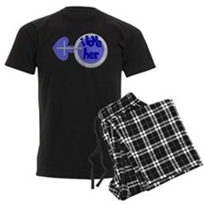 I love her -Couple shirt Pajamas