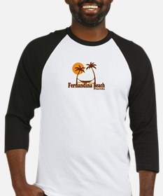 Fernandina Beach - Palm Trees Design. Baseball Jer