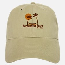 Fernandina Beach - Palm Trees Design. Baseball Baseball Cap