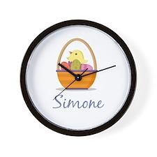 Easter Basket Simone Wall Clock
