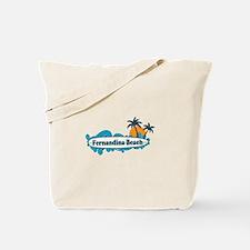 Fernandina Beach - Surf Design. Tote Bag