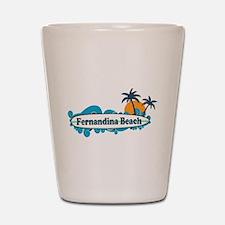 Fernandina Beach - Surf Design. Shot Glass