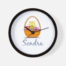 Easter Basket Sondra Wall Clock