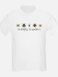 Creepy Crawlers Spiders Kids T-Shirt