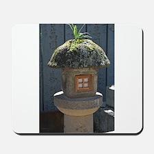 Weed on a Japanese stone lantern Mousepad