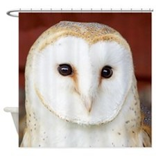 Wild Barn Owl Shower Curtain