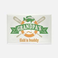 Grandpas Fishing Buddy Rectangle Magnet