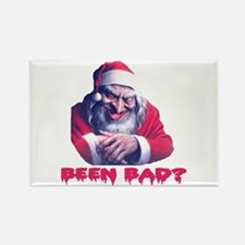 SCARY SANTA ... BEEN BAD? Rectangle Magnet