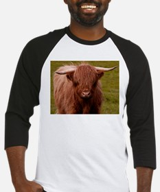 Scottish Highland Cow Baseball Jersey