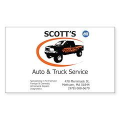 Scott's Auto Rectangle Decal