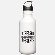 Stressed Spelled Backward Is Desserts Sports Water Bottle