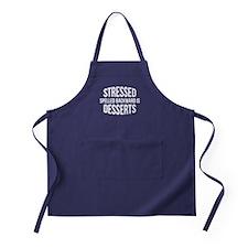 Stressed Spelled Backward Is Desserts Apron (dark)