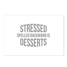 Stressed Spelled Backward Is Desserts Postcards (P