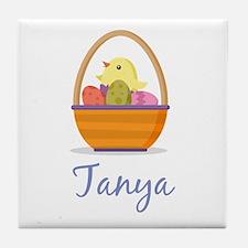 Easter Basket Tanya Tile Coaster
