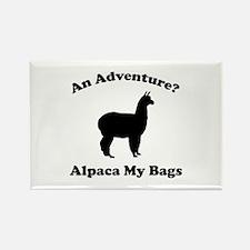 An Adventure? Alpaca My Bags Rectangle Magnet