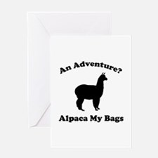 An Adventure? Alpaca My Bags Greeting Card
